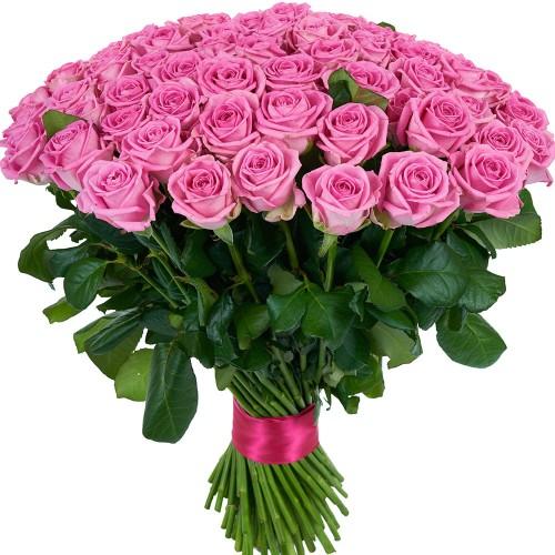 Купить на заказ Букет из 101 розовой розы с доставкой в Туркестане