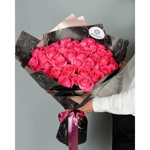 Купить на заказ Букет из 51 розовых роз с доставкой в Туркестане
