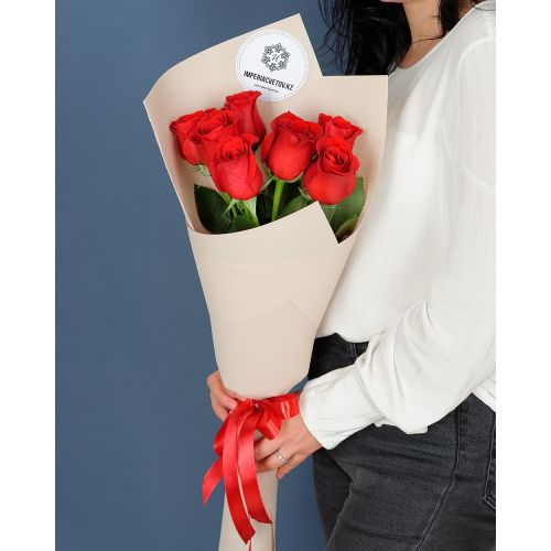 Купить на заказ Букет из 7 роз с доставкой в Туркестане
