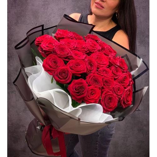 Купить на заказ Букет из 35 красных роз с доставкой в Туркестане