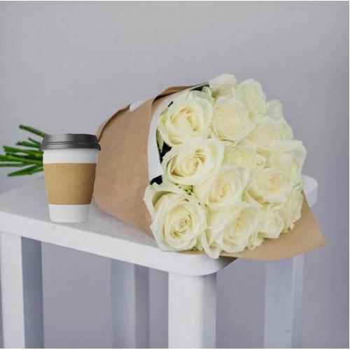 Купить на заказ Кофе с цветами с доставкой в Туркестане